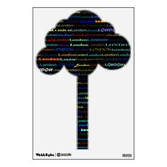 London Text Design I Wall Decal Tree