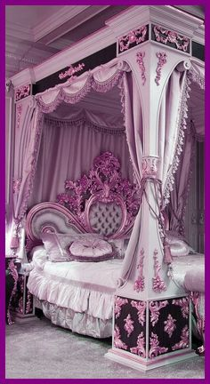 Luxury bed design - creative ideasYou can find Luxury bedding and more on our website. Luxury Bedroom Design, Girl Bedroom Designs, Room Ideas Bedroom, Girls Bedroom, Bedroom Decor, Bed Room, Awesome Bedrooms, Beautiful Bedrooms, Royal Bedroom