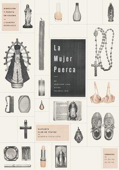 La Mujer Puerca by julia ferrando, via Behance