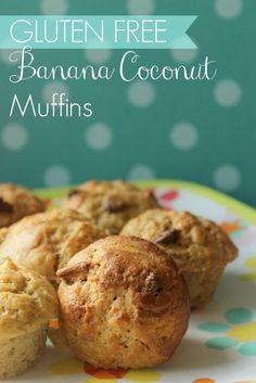 Super moist & tasty Gluten Free Banana Coconut Muffins from Kids Stuff World / Low Sugar too!