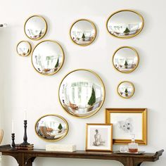 Where do you buy the Ava Convex Wall Mirror to liven up your wall spaces? Get inspired at Ballard Designs! Find jazzy new trends and the Ava Convex Wall Mirror to brighten your home today. Convex Mirror, Brass Mirror, Printed Cushions, Ballard Designs, Do It Yourself Home, Of Wallpaper, Wall Spaces, Bedroom Wall, Shabby Bedroom