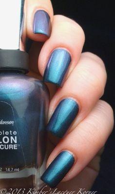 Sally Hansen Salon Manicure Black and Blue