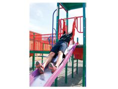 Playground exercise 2: Sliders (Photo by Josie Boulding) #Burbathlon