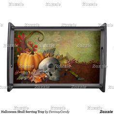 Halloween Skull Serving Tray
