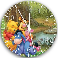 "New Winnie the pooh wall Clock 10"" will be nice Gift and Room wall Decor X02"