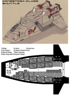 Space Freighter Deck Plans | Dark Nova: Shuttle Deckplans by ~ Breandan-OCiarrai