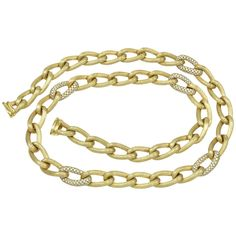 Fabulous Henry Dunay Diamond Gold Chain | From a unique collection of vintage chain necklaces at https://www.1stdibs.com/jewelry/necklaces/chain-necklaces/