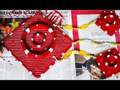 Newspaper wall hanging   Newspaper crafts   Newspaper products - YouTube