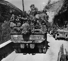 The 82nd Airborne getting a lift in Sicily as part of Operation Husky