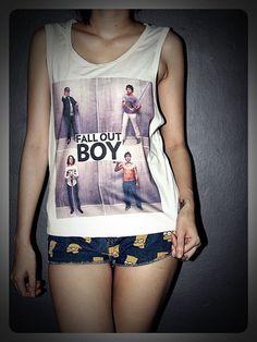 Fall Out Boy Tank Tops Women Shirt Girl Side Boob