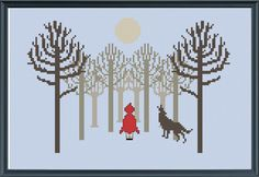 Litte Red Riding Hood cross stitch pattern by CaractacusCrane