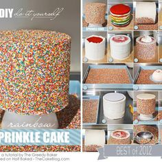 Half Baked – The Cake Blog » DIY : Rainbow Sprinkle Cake.