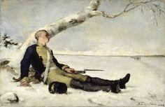 Haavoittunut soturi hangella by Helena Schjerfbeck 1880 - Helene Schjerfbeck – Wikipedia