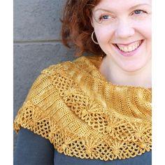 Linda Permann Sugar Sparkles Shawlette PDF at WEBS | Yarn.com $6