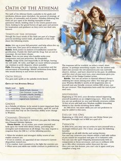 Post with 6246 views. [Paladin Subclass] Oath of the Athenai Dungeons And Dragons Rules, Dungeons And Dragons Classes, Dungeons And Dragons Homebrew, Dnd Paladin, Dnd Classes, Dnd Races, Dnd 5e Homebrew, Dragon Rpg, Pathfinder Rpg