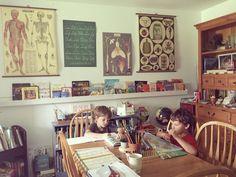 homeschool space   farmhouse schoolhouse