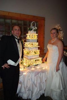 Illuminated Alexis Wedding Cake Stand