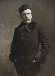 Nansen - Great texture to this coat with fur collar and cuffs, with matching hat. Not entirely sure the fur is real?