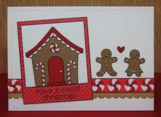 Snippets By Mendi: Day 12- A Lawn Fawn Gingerbread House Card