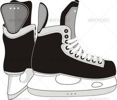 Buy Ice Hockey Skates by ADVRT on GraphicRiver. The isolated image of the modern sports hockey skates. Hockey Crafts, Hockey Decor, Hockey Room, Youth Hockey, Hockey Girls, Hockey Teams, Ice Hockey, Boys, Hockey Birthday