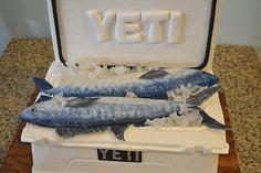 Yeti Cooler Fishing Groom's Cake