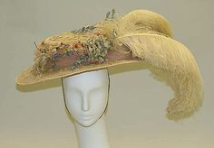 Hat Made Of Silk, Feathers And Wire - American   c.1904  -  The Metropolitan Museum Of Art