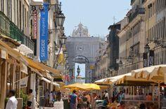 Rua da Trata (Zilversmedenstraat), stadsdeel Baixa, Lisboa