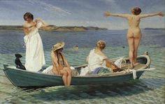 Badende piger 1904, (badthing girls)