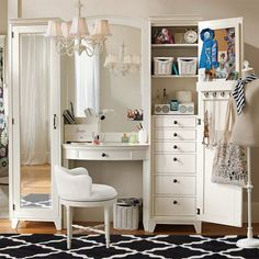 -Vanity-And-Tower-Bedroom-Ideas-with-White-Bedroom-Vanity-and-Storage ...