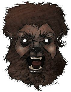 create your own wolfman mask in illustrator - Must Try this Halloween #tutorails #halloween #scary #zombie
