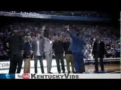 Members of the 1996 National Championship team returned to Rupp Arena to receive rings honoring their achievement.