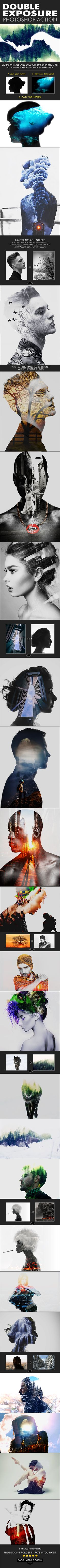 Double Exposure #Action - Actions #Photoshop Download here: https://graphicriver.net/item/double-exposure-action/19588604?ref=alena994
