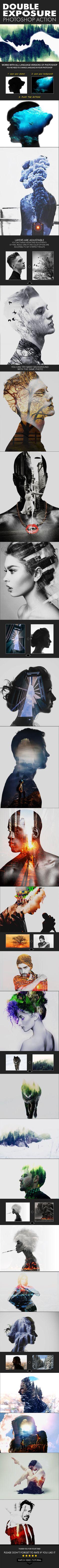 Double Exposure #Action - Actions #Photoshop Download here:  https://graphicriver.net/item/double-exposure-action/19588604?ref=alena994