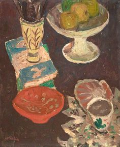 william george gillies(1898–1973), still life with penguin books, c.1952. oil on canvas, 40 x 32.5 cm. national galleries of scotland, uk   http://www.bbc.co.uk/arts/yourpaintings/paintings/still-life-with-penguin-books-211819