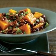 This hearty stew, made with black soybeans, butternut squash, bell peppers, and onion, equals the perfect lunch or dinner when the weather o