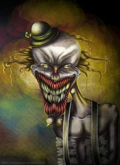 I hate clowns. So much. And everyone that likes clowns sucks pretty bad too.
