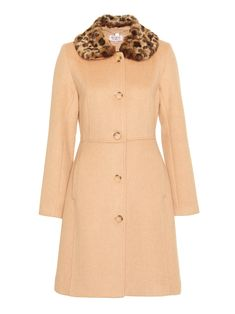 Cute Coats, Vintage Inspired Dresses, Occasion Wear, Fur Collars, Tortoise Shell, My Wardrobe, Wool Blend, Camel, Neutral