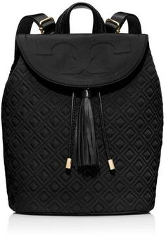 Love this: TORY BURCH Black Fleming Nylon Backpack @Lyst: