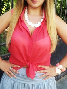 VINTAGE INSPIRED KNOTTED SHIRT