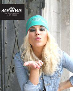 KISS from #KristaSiegfrids! * Me We:n Kristalle suunnittelemassa pääpannassa toisella puolella Kristan slogan MORE IS MORE ja toisella puolella Me We:n komea logo. #cool #dingdong #streetfashion #MadeInFinland #Nanso-factory #Nokia #handprinted #Helsinki #organic #OekoTex100