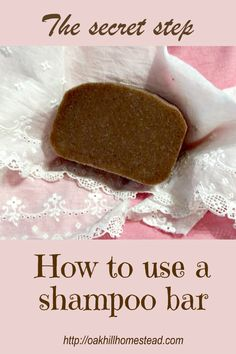 How do you use a solid shampoo bar on your hair? Here's how, including the last, very important step. Natural Curls, Natural Hair Care, Natural Hair Styles, Solid Shampoo, Shampoo Bar, Homemade Beauty, Diy Beauty, Homemade Shampoo, Homemade Moisturizer