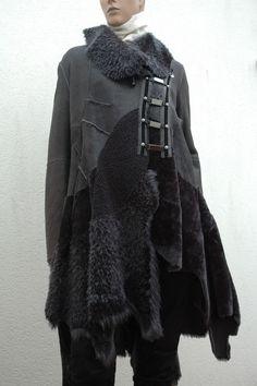 HIGH USE manteau cuir 40 DASHING shearling coat Mantel leder 38 NEW