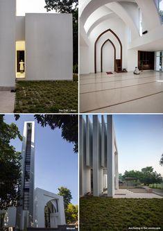 The Rural Lantern Mosque Architecture, Sacred Architecture, Contemporary Architecture, Architecture Details, Interior Architecture, Islamic Motifs, Masjid Al Haram, Modern Exterior, Exterior Lighting