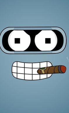 Robot Cigar - #bigface iPhone wallpaper @mobile9