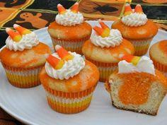 @KatieSheaDesign ♡♡ #Cupcakes ♡♡ #Halloween Candy Corn Cupcakes