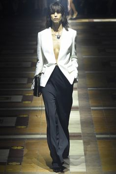 A choker style gold necklace would look great in this combo. Lanvin RTW Spring 2015 #womens #fashion