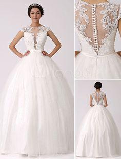 Ilusão mergulhar princesa pescoço vestido de noiva com renda pura volta