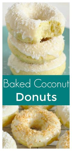 Baked Coconut Donuts – This baked donut recipe is perfect for breakfast or brunch this weekend! Coconut cake donuts baked in a donut pan and topped with a coconut icing and shredded coconut. This coconut donut recipe is perfect for coconut fans! #coconut #donuts #baked #breakfast #easyrecipe #dessert