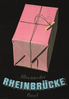 Alles aus der Rheinbrucke Basel (Everything from Rheinbrucke Dept. Vintage Advertisements, Vintage Ads, Vintage Posters, Web Design, Graphic Design Art, Basel, Poster Art, Poster Prints, Art Deco