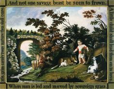 Edward Hicks' Peaceable Kingdom of the Branch. Example of Artist's illustrating community.